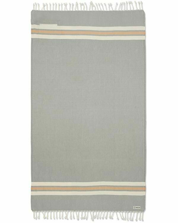 Sand Cloud Dobby Stripe Towel w/ Pocket GREY