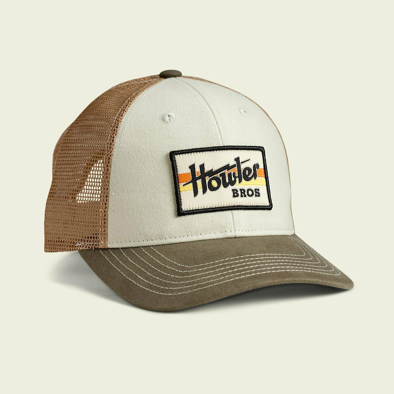 Howler Bros Standard Trucker Hat Electric Stripe STONE / GOLD / RIFLE