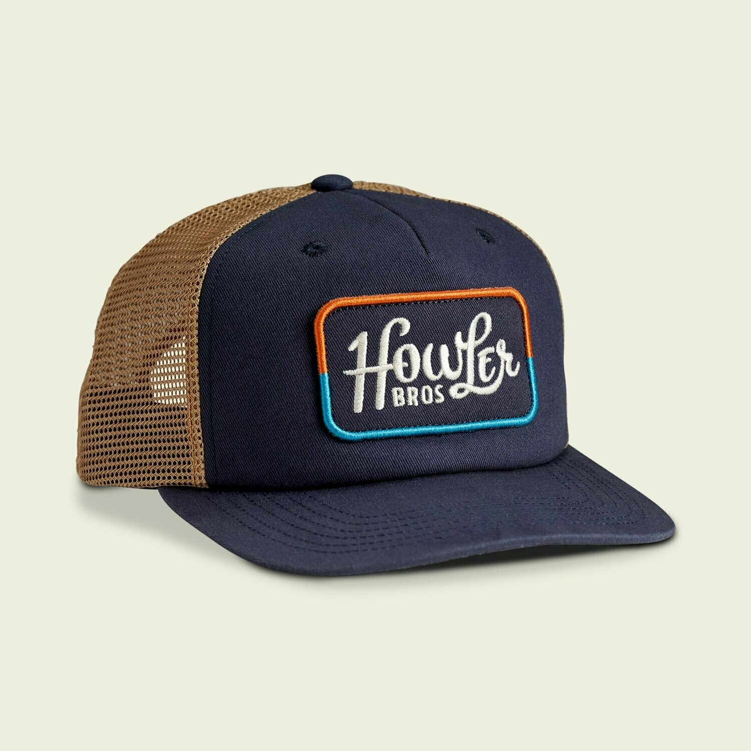 Howler Bros Structured SnapBack Trucker Hat Howler Classic NAVY / OLD GOLD