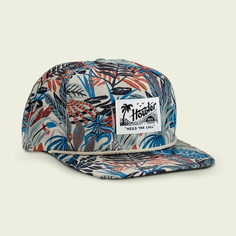 Howler Bros Unstructured SnapBack Trucker Hat Everglades Print OFF WHITE