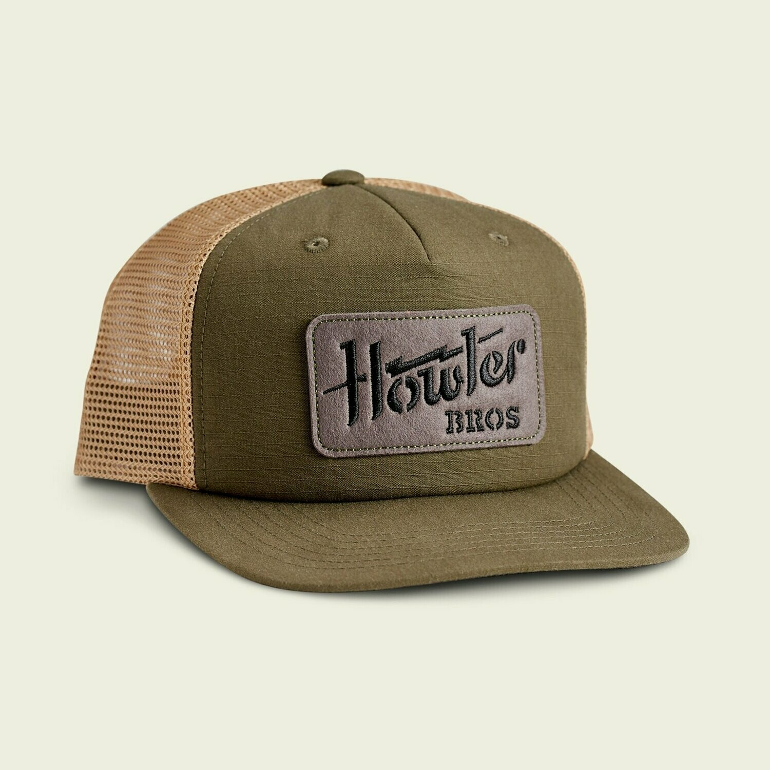 Howler Bros Structured SnapBack Electric Stencil FATIGUE / OLD GOLD