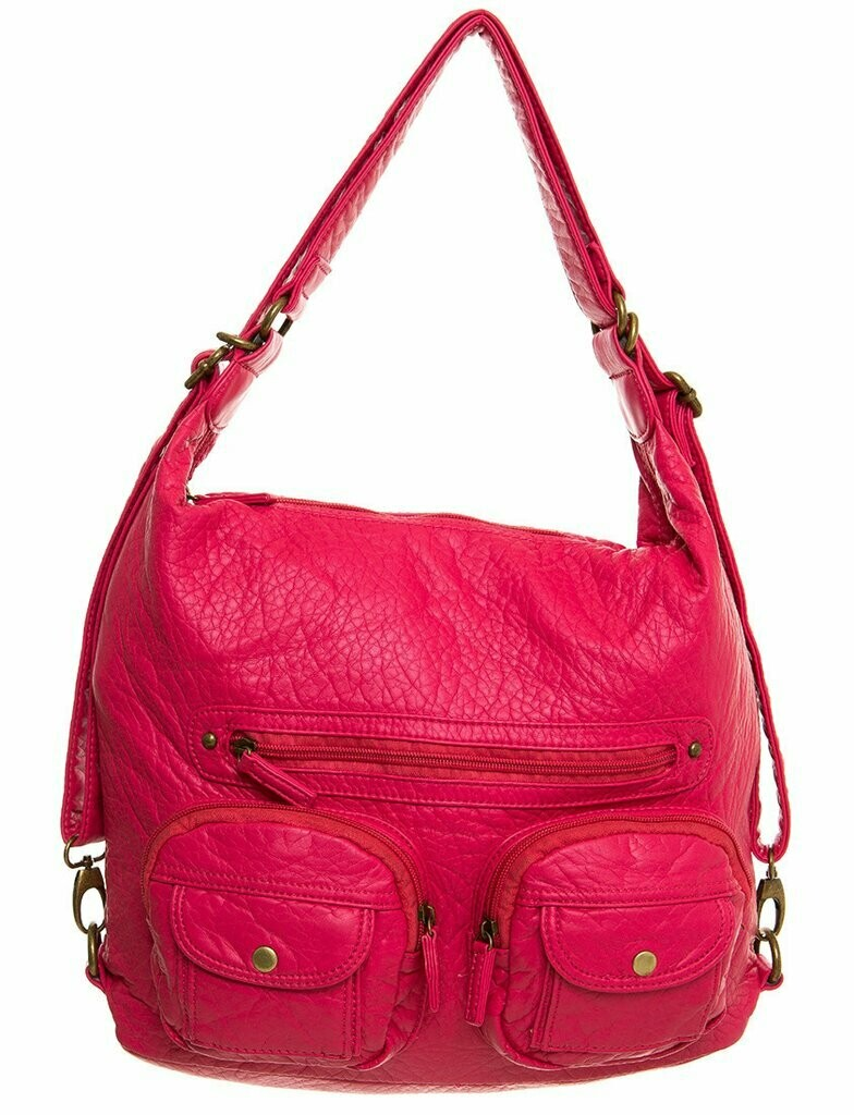 Ampere Convertible Crossbody Backpack: CORAL