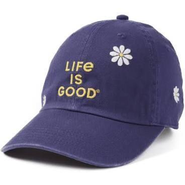 Life is good Chill Cap Daisy LIG Stack DARKEST BLUE