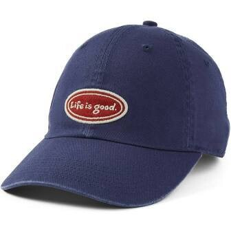 Life is good Chill Cap LIG Oval Red Patch DARKEST BLUE