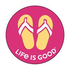 Life is good Magnet Flip Flops MAGENTA