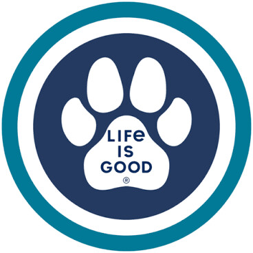 Life is good Sticker: Paw Coin Circle
