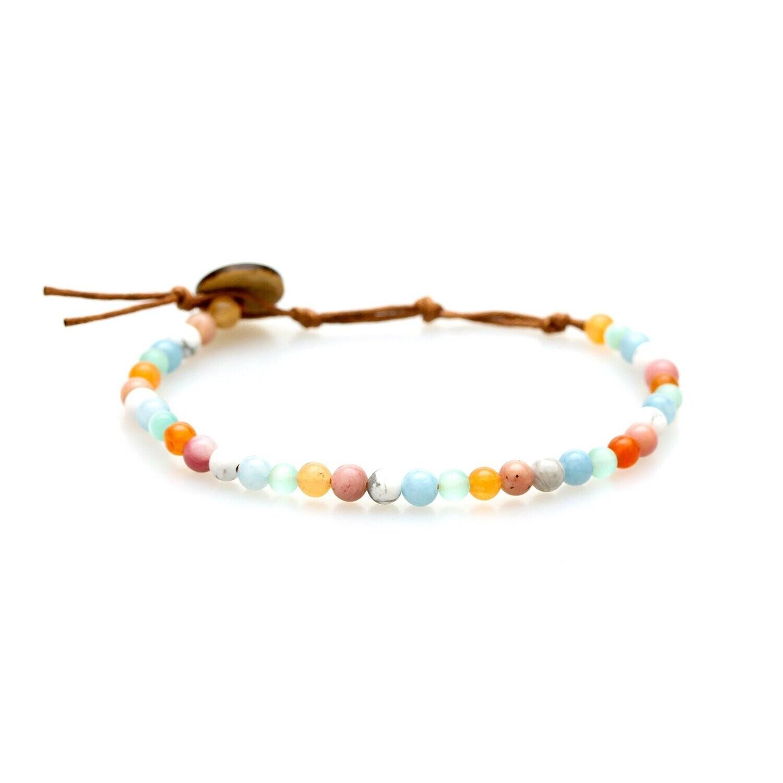 Lotus & Luna Healing Bracelet 4mm: BALANCE/ GROWTH