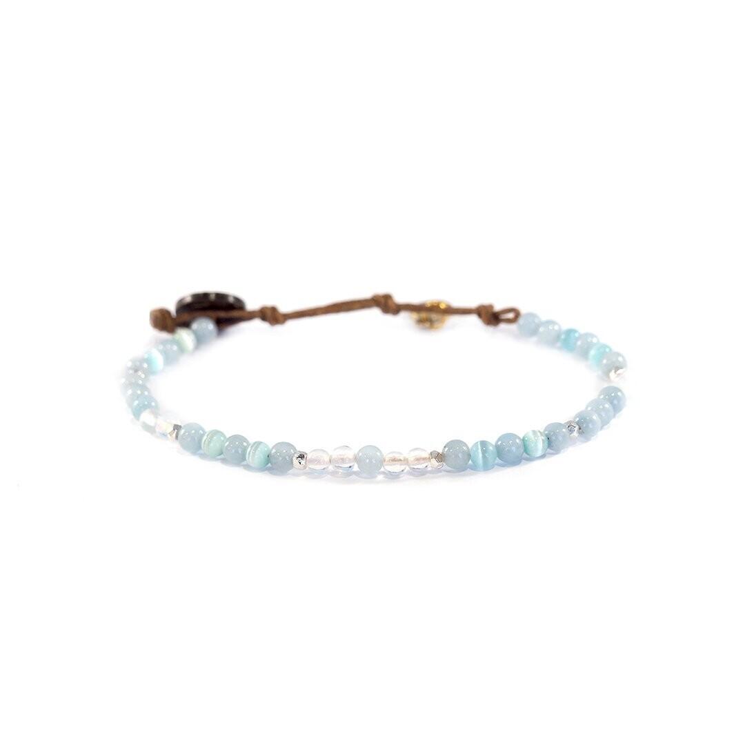 Lotus & Luna Healing Bracelet 4mm: INTUITION/ INNER PEACE