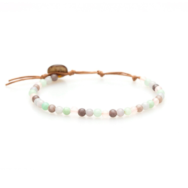 Lotus & Luna Healing Bracelet 4mm: HEALING/ LOVE