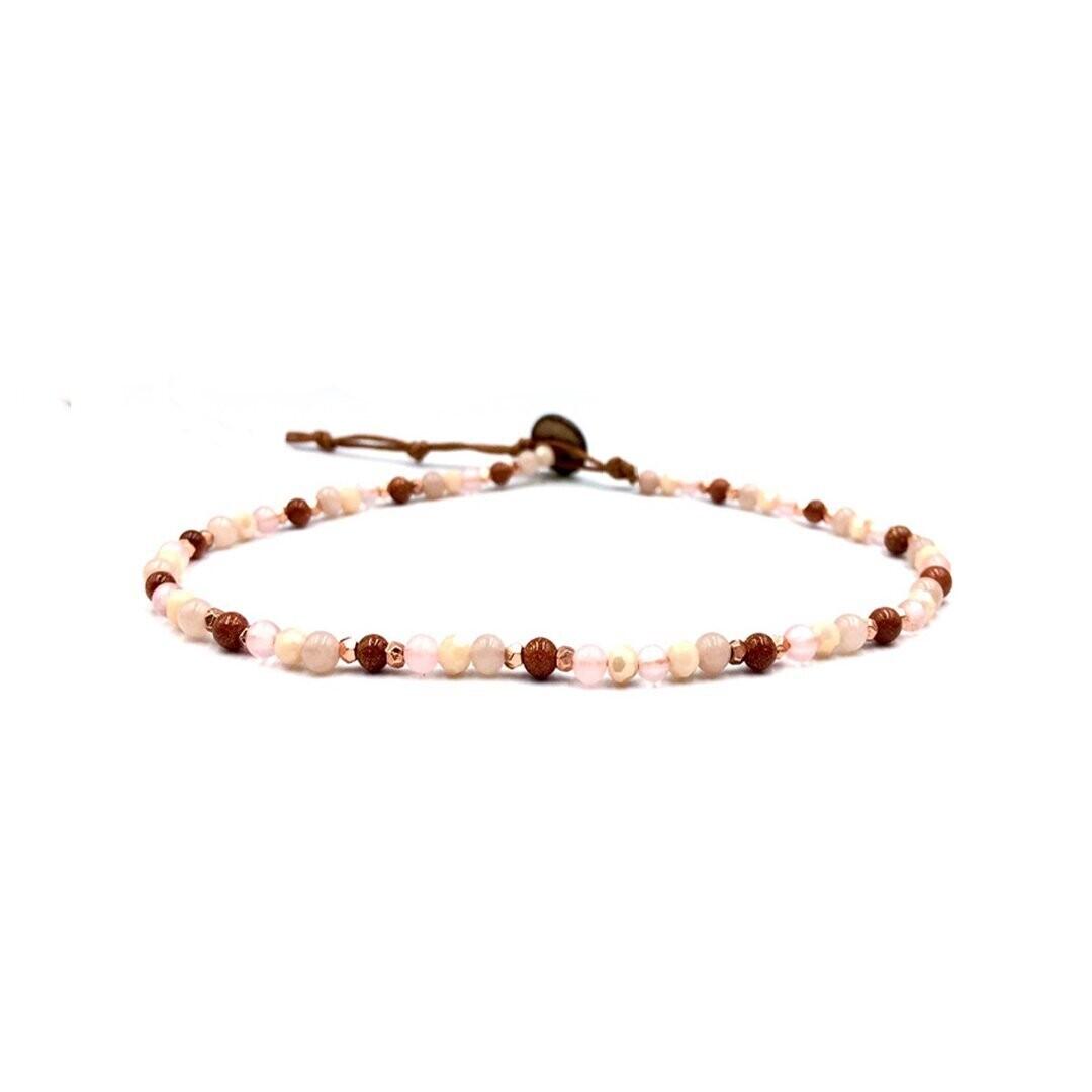 Lotus & Luna Healing Bracelet 4mm: LOVE/ AMBITION