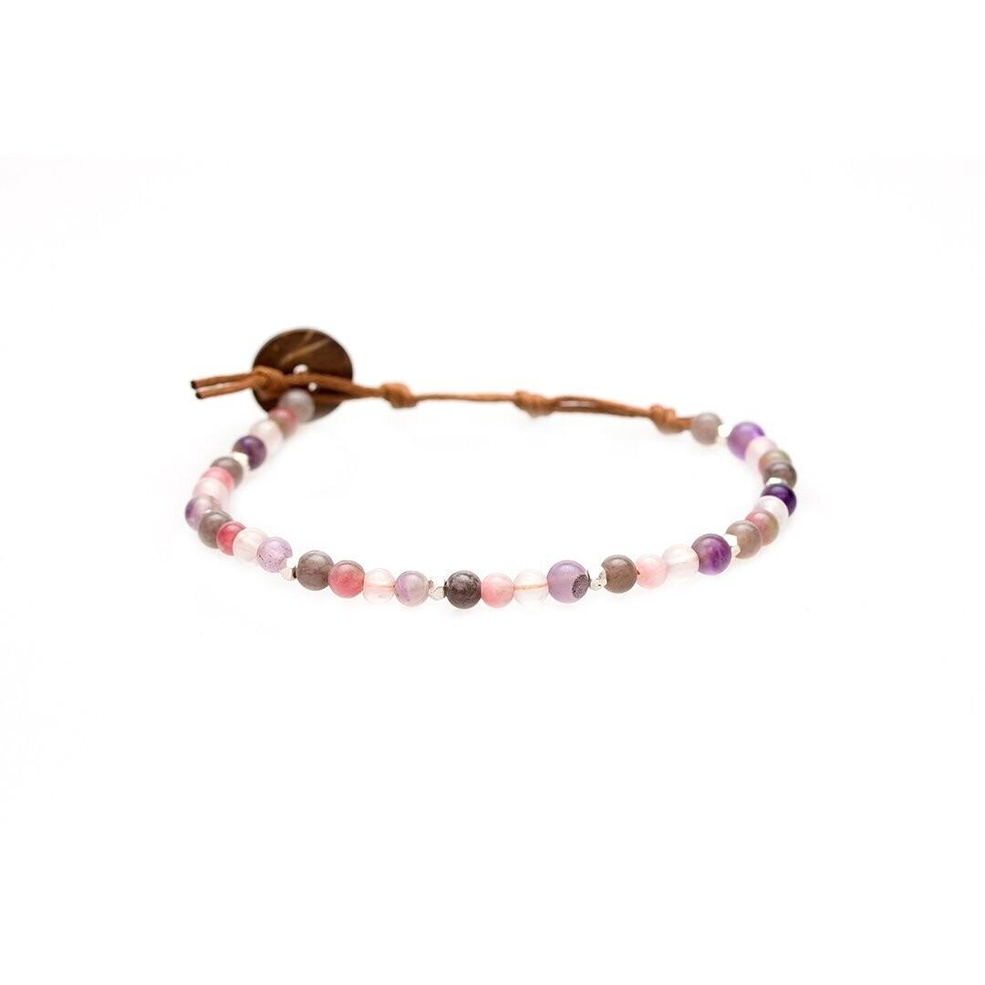 Lotus & Luna Healing Bracelet 4mm: VITALITY/ PROSPERITY