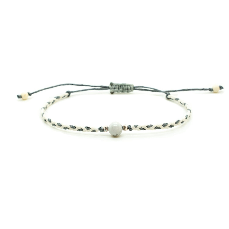 Lotus & Luna Braided Stone Bracelet: HOWLITE