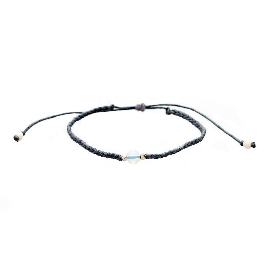 Lotus & Luna Braided Stone Bracelet: MOONSTONE