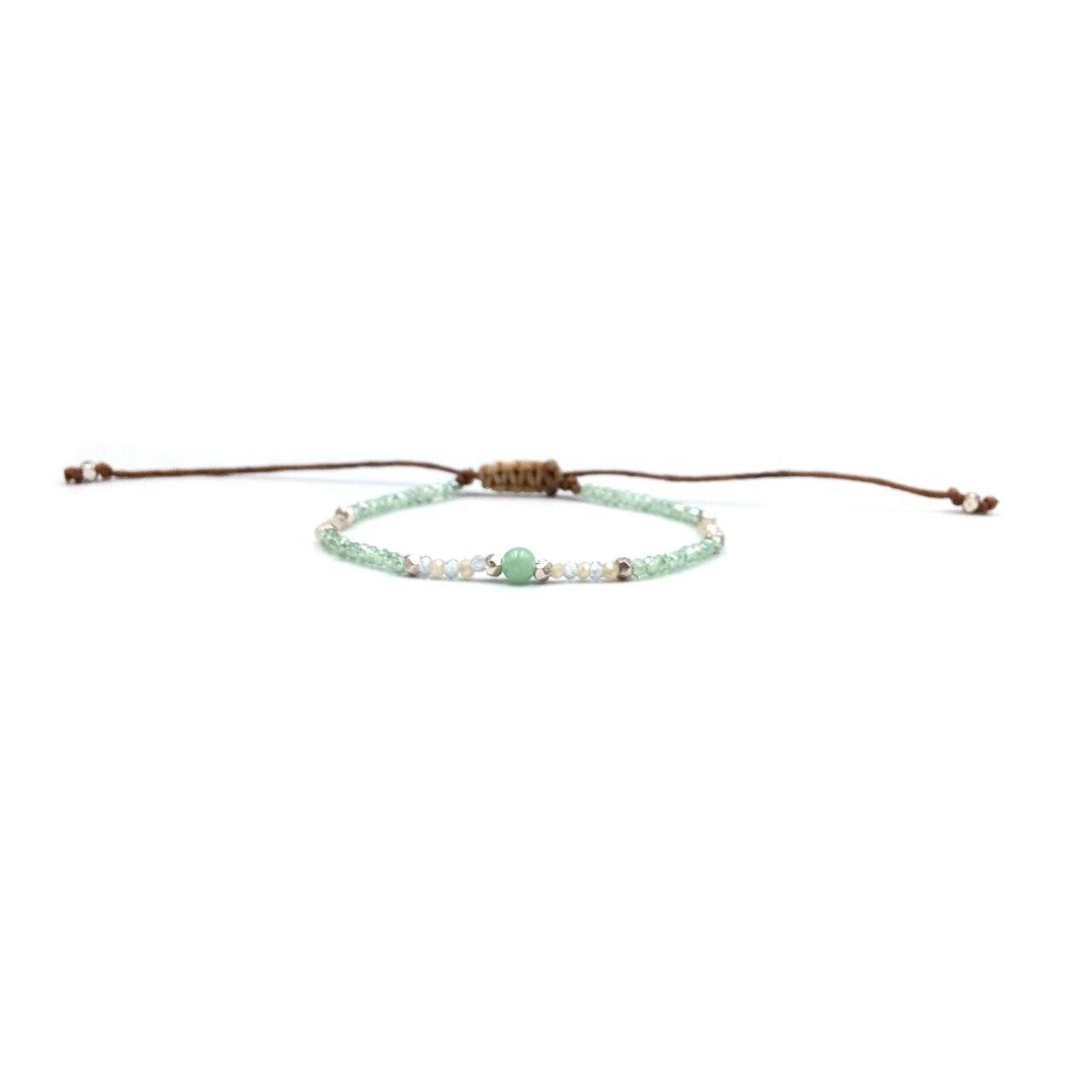 Lotus & Luna Goddess Bracelet: AMAZONITE/ INNER PEACE