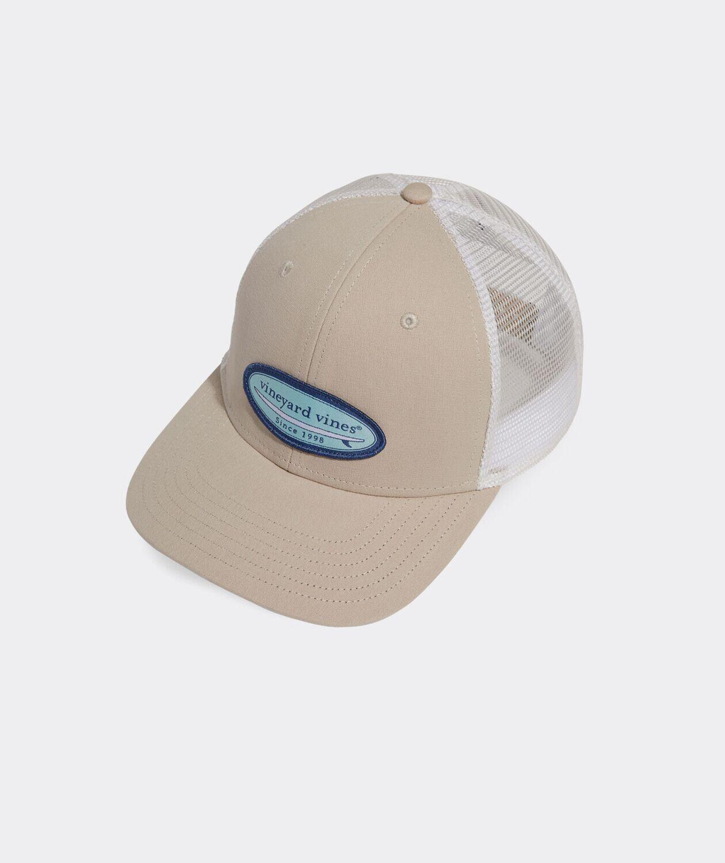Vineyard Vines Tropical Surf Patch Trucker Hat KHAKI