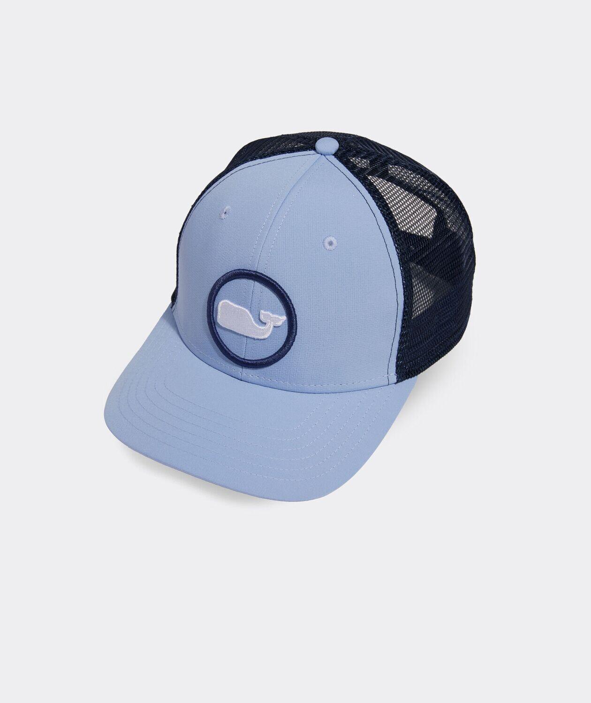 Vineyard Vines Whale Dot Performance Trucker Hat JAKE BLUE
