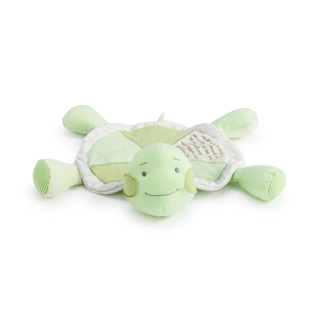 Demdaco Kids Grow Slow Turtle Rattle Blankie