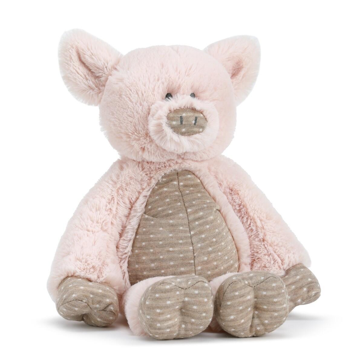 Demdaco Barnyard Plush Pig