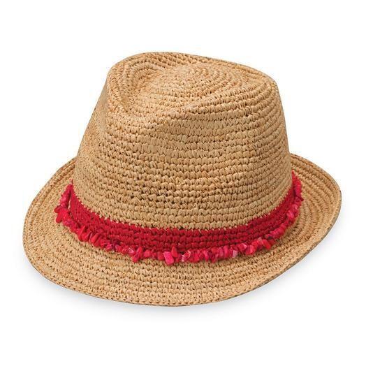 Wallaroo Hats Tahiti Fedora RED