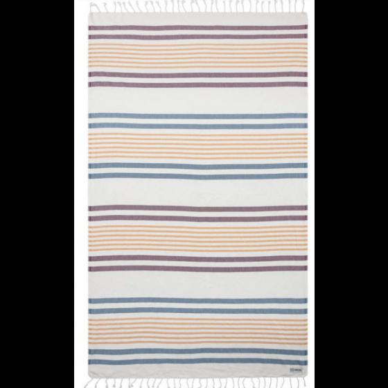 Sand Cloud Quest Stripe Towel NATURAL