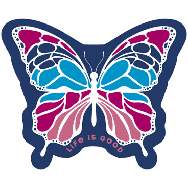Life is good Butterfly Decal