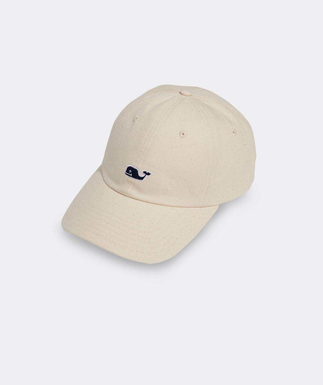 Vineyard Vines Classic Flecked Canvas Baseball Hat MARSHMALLOW