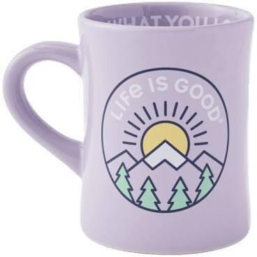 Life is good Diner Mug LIG Mountain MOONSTONE PURPLE