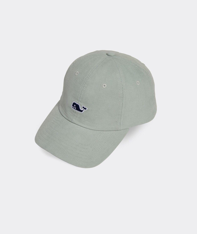 Vineyard Vines Corduroy Classic Baseball Hat GREEN LILY