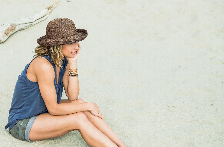 Wallaroo Hats Petite Victoria MIXED CAMEL