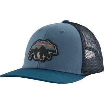 Patagonia Kids Trucker Hat Back for Good Bear PIGEON BLUE
