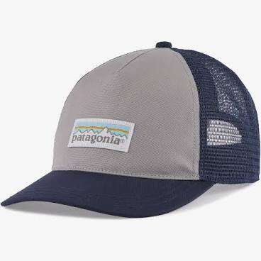 Patagonia W Pastel P-6 Label Layback Trucker Hat SALT GREY / NEW NAVY