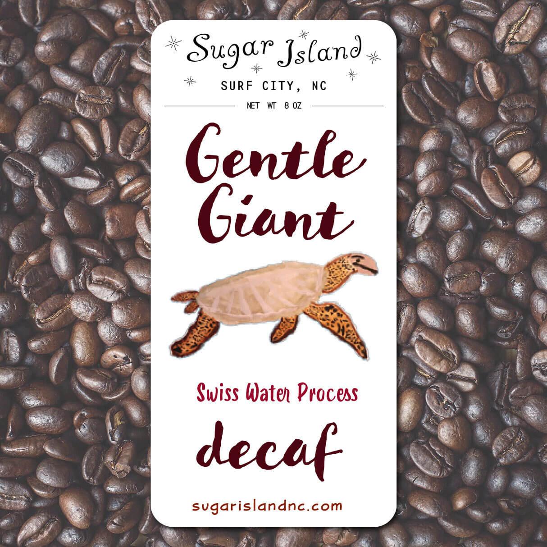 Sugar Island Decaf Whole Bean Coffee GENTLE GIANT