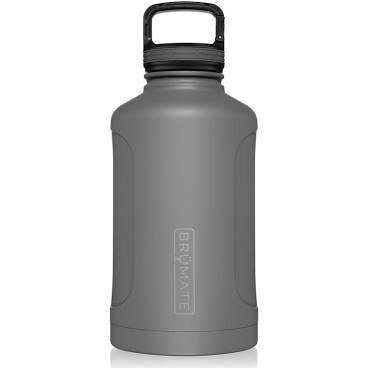 BruMate Growl'r Insulated Bottle 64 oz MATTE GRAY