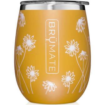 BruMate Uncork'd XL 14 oz Wine Tumbler DANDELION