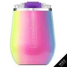 BruMate Uncork'd XL 14oz Wine Tumbler GLITTER RAINBOW