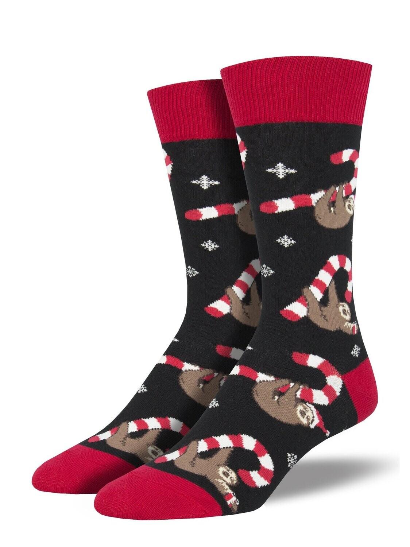 Socksmith M Merry Slothmas BLACK