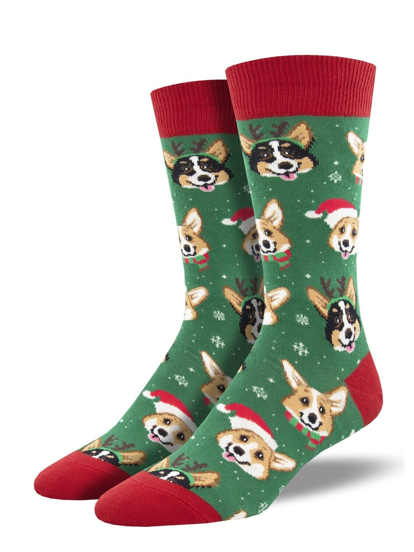 Socksmith M Christmas Happy Pawlidays GREEN