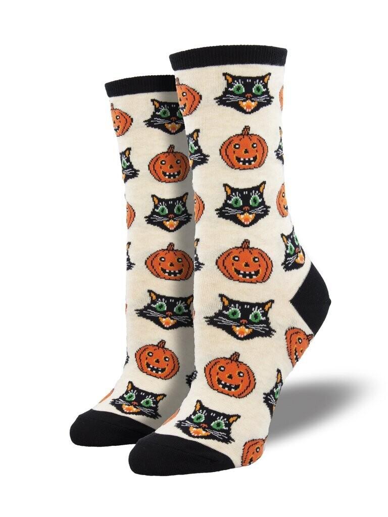 Socksmith W Vintage Halloween IVORY HEATHER