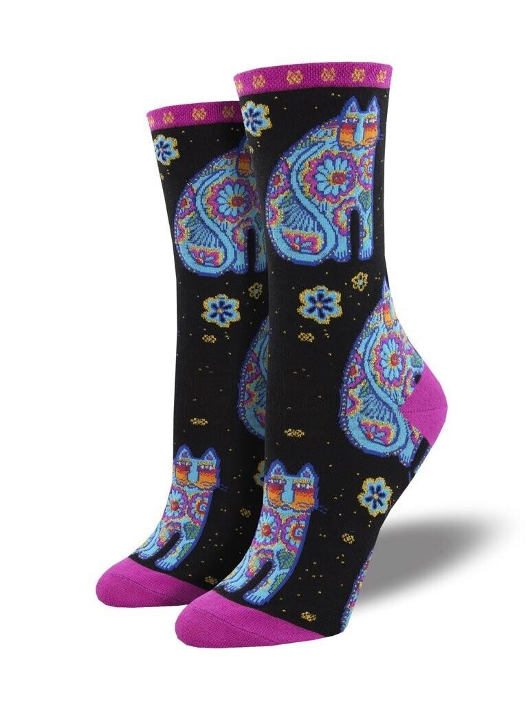 Socksmith W Thanks Cat BLACK