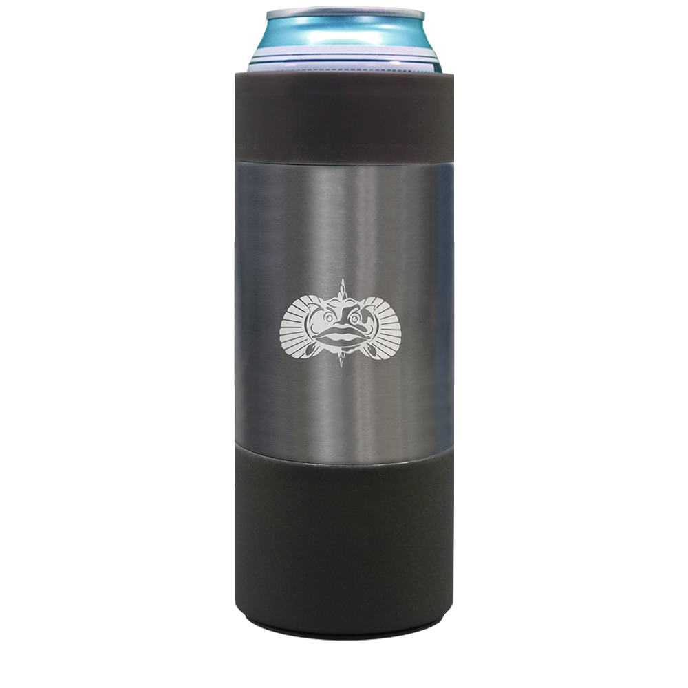 Toadfish Non-Tipping Slim Can Cooler 1071 GRAPHITE