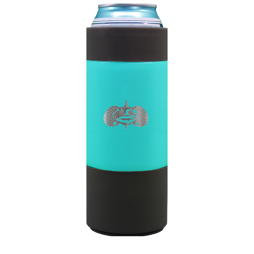 Toadfish Non-Tipping Slim Can Cooler 1042 TEAL