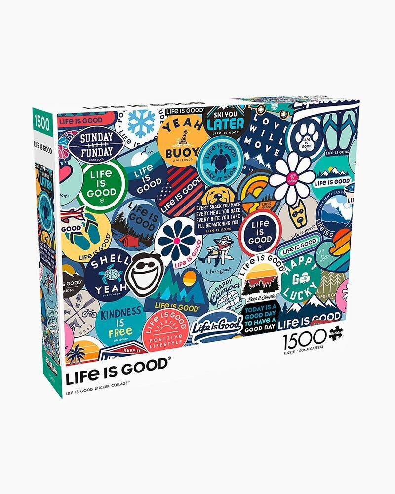 Life is good Sticker Jigsaw Puzzle 1500 pieces by Buffalo Games