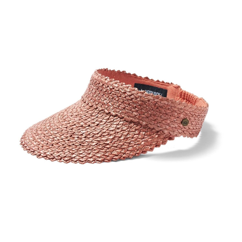 Hemlock Hat Co Capri Visor ROSE