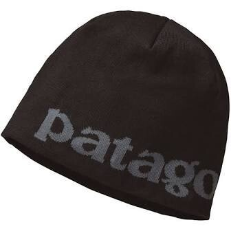 Patagonia Logo Beanie Hat BLACK