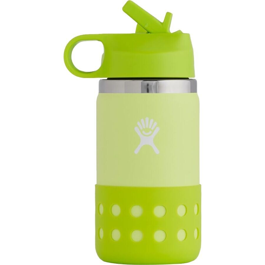 Hydro Flask 12 oz Kids Wide Mouth w/Straw Lid & Boot HONEYDEW