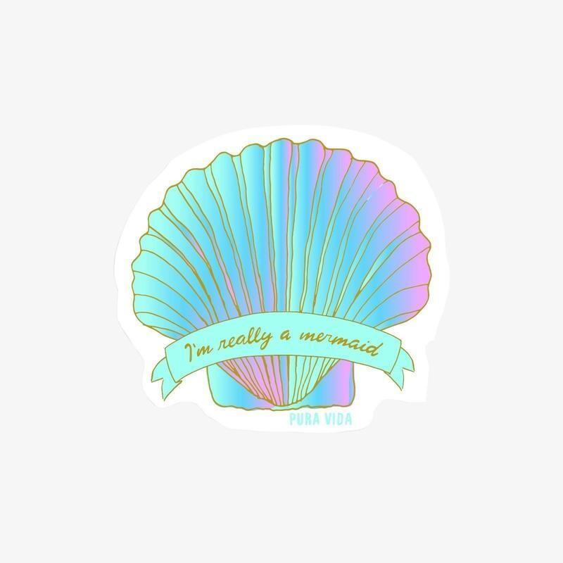 Pura Vida Sticker: Mermaid Shell