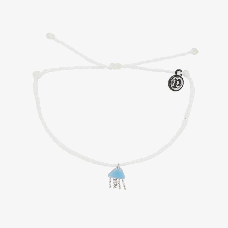 Pura Vida Surfrider Jellyfish Charm Bracelet WHITE