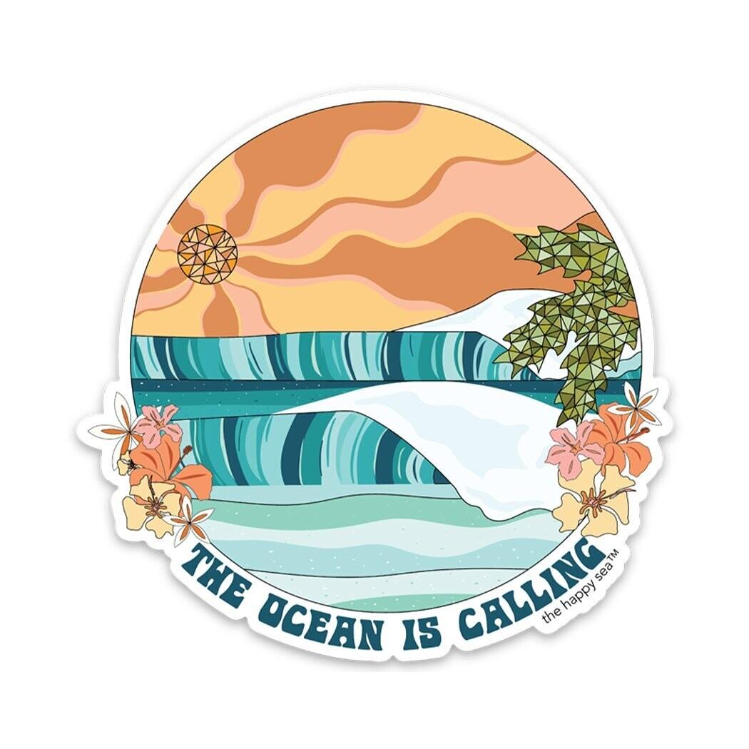 "The Happy Sea 4"" Ocean Calling Sticker"
