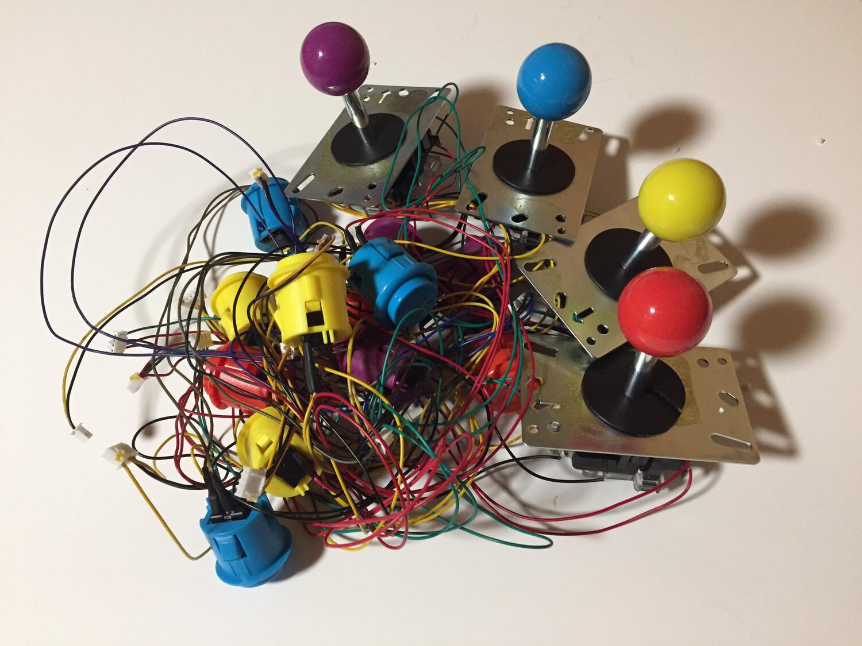 TMNT Button/Joystick set FULL SET - OEM ARCADE1UP SET LIKE NEW!