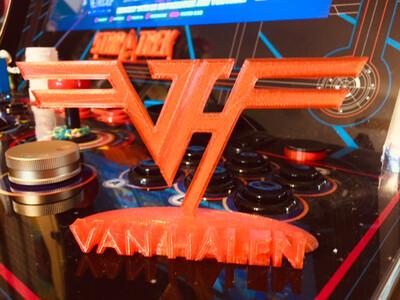 VAN HALEN logo Arcade Caddie